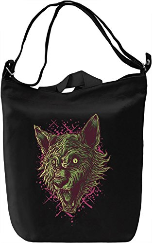 Wolf head Borsa Giornaliera Canvas Canvas Day Bag| 100% Premium Cotton Canvas| DTG Printing|
