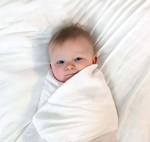 Muslin Baby Swaddle Blanket – Bamboo   Organic Cotton Receiving Blankets ... d0bb81595