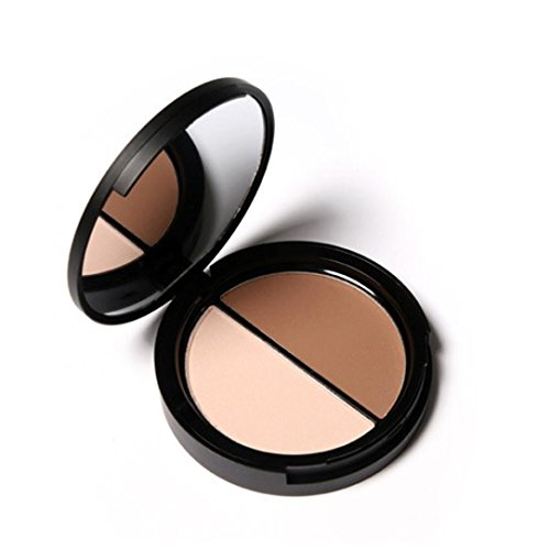 Puder, Oyedens Bling Make-Up Gesicht Bronzer Und Highlighter 2 Farbe Concealer Matt Pulver 2#