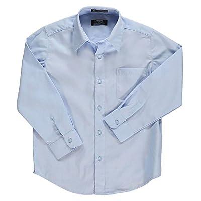 French Toast School Uniform Boys Long Sleeve Classic Dress Shirt, Blue, 12