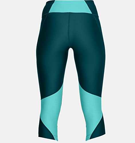 Under Armour Women's Armour Fly Fast Capris, Tourmaline Teal /Reflective, X-Small by Under Armour (Image #3)