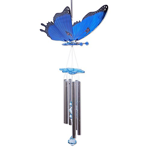 Exhart 40213 Windy Wings Butterfly Wind Chime, Large -