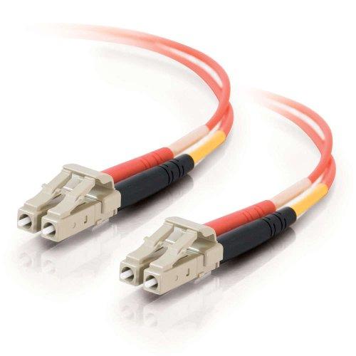 C2G 33173 OM1 Fiber Optic Cable - LC-LC 62.5/125 Duplex Multimode PVC Fiber Cable, Orange (6.6 Feet, 2 Meters)