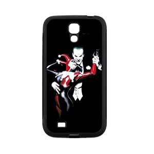 Protective Hard Black Case Cover for Samsung Galaxy S4 S IV I9500 - Joker and Harley Quinn Designed by WCA