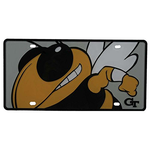 - Stockdale Georgia Tech Yellow Jackets Full Color Mega Inlay License Plate