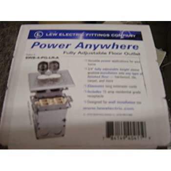 Lew Electric Swb 4 Pq Lr A Floor Box Flip Lid Quad Box W