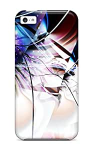 New Premium Flip Case Cover Abstract Fractal Skin Case For Iphone 5c