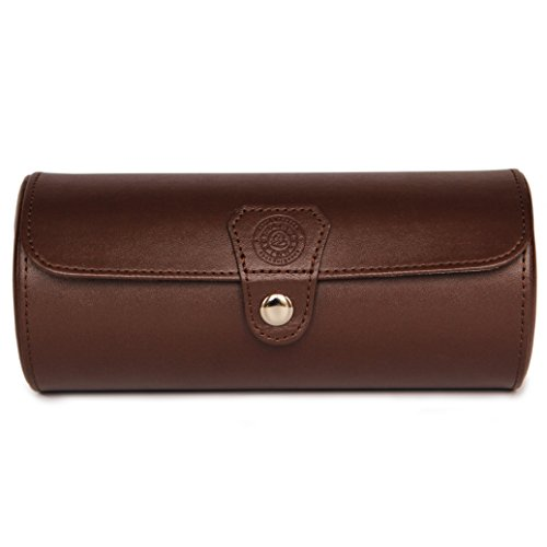 "Limited Edition""Chocolate"" Color - Vegan Leather Watch Roll Organizer by Case Elegance from CASE ELEGANCE"