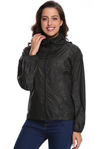 Blivener - Abrigo impermeable - capa - para mujer negro