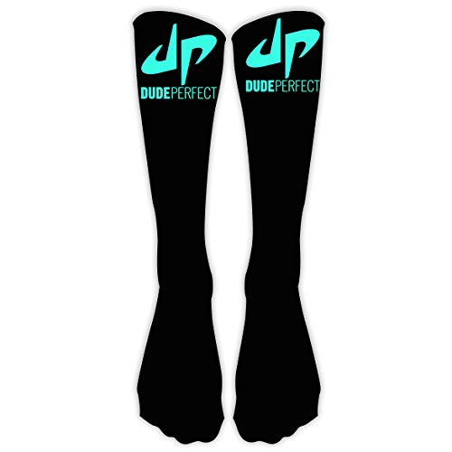 DP Dude Perfect LOGO Xmas Unisex Family High Knee Stocking 3D Printed Long Sock