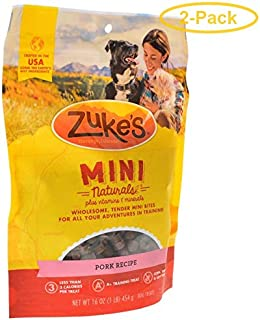 product image for Zuke's Mini Naturals Moist Dog Treats - Roasted Pork Recipe 1 lb - Pack of 2