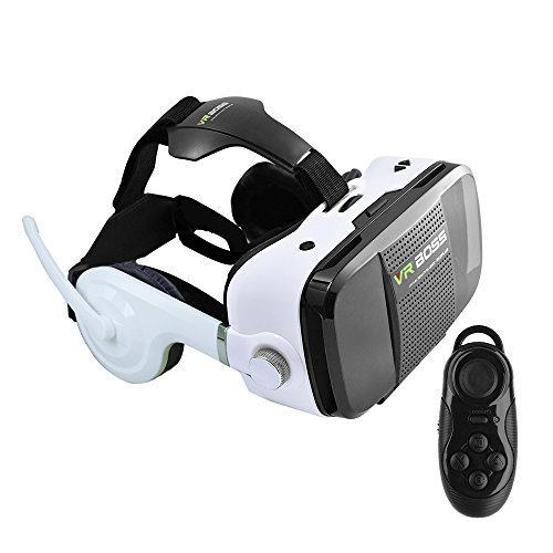VIGICA VR BOSS Virtual Reality Headset 3D Glasses with Headphone for 4.0-6.3 inch Smartphone with Bluetooth Remote Control