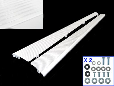 VW Bug Running Boards, Pair, Billet Aluminum, White (Running Board Vw Bug compare prices)