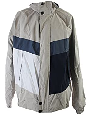 Colorblocked Bomber Jacket, Sand Drift, XL
