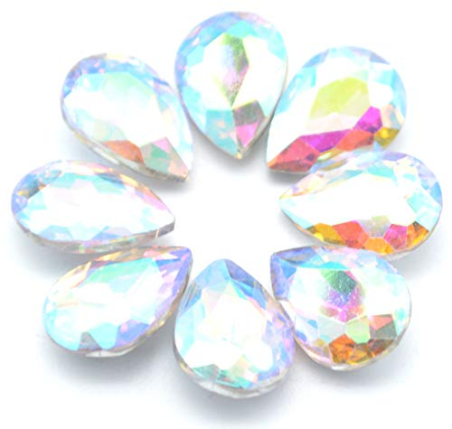 rop Crystal Resin Rhinestone Pointback Faceted Jewelry Making DIY Craft(80pcs-AB Color) ()