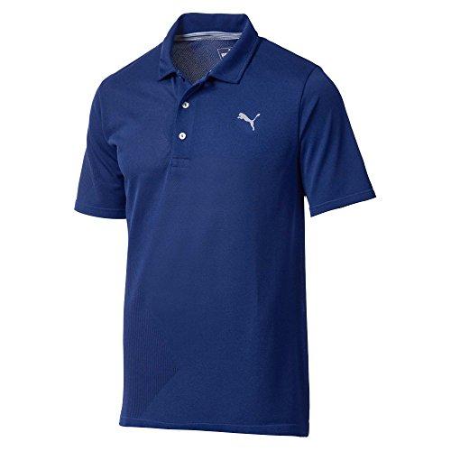 Puma Golf Men's 2018 Evoknit Dassler Polo, Medium, Sodalite Blue (Puma Dassler)