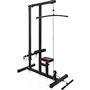 Merax LAT Pulldown Machine Low Row Cable Pull Down Fitness Station