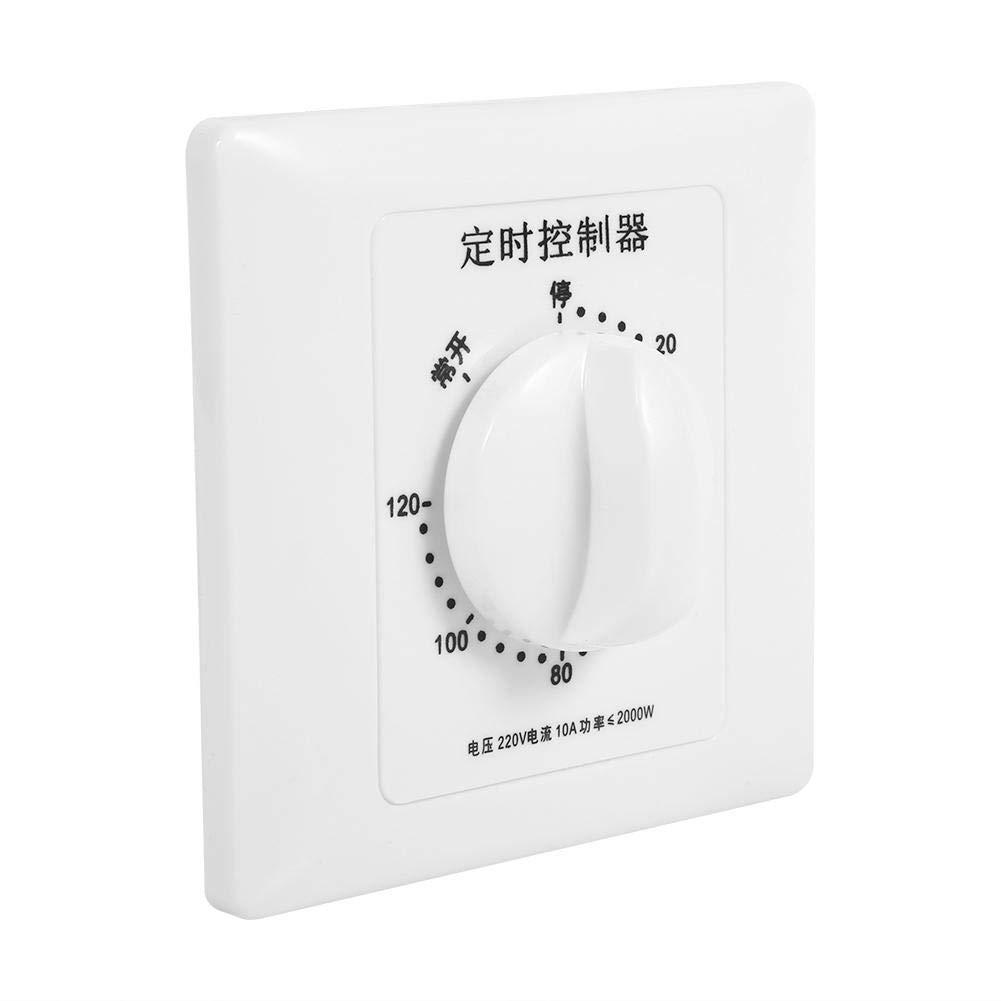 AC 220V Min Minuterie de pompe haute puissance Interrupteur m/écanique Contr/ôle du compte /à rebours 86 Panneau pour ventilateur 120 min etc. pompe Commutateur de compte /à rebours chauffe-eau