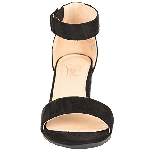4a43396bc31 Women s Ankle Strap Chunky High Heels – Comfortable Open Toe Strap Sandal –  Evening