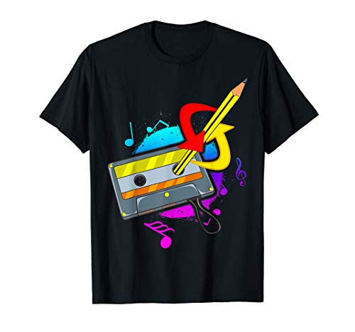 Cassette Tape T Shirt 80s 90s Party Costume Shirt 80s Music -