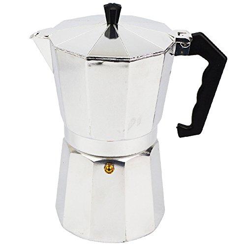 ATWFS Espresso Coffee Pots 3/6 Cups Aluminum Moka Pot Coffee Maker Moka Espresso Cup