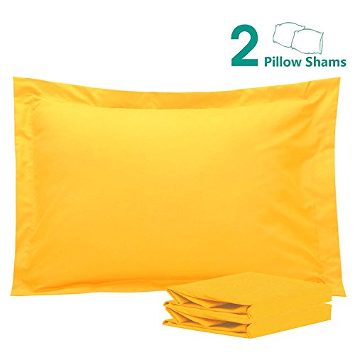 - NTBAY 100% Brushed Microfiber Pillow Shams Set of 2, Soft and Cozy, Wrinkle, Fade, Stain Resistant (20x26 inches, Yellow)