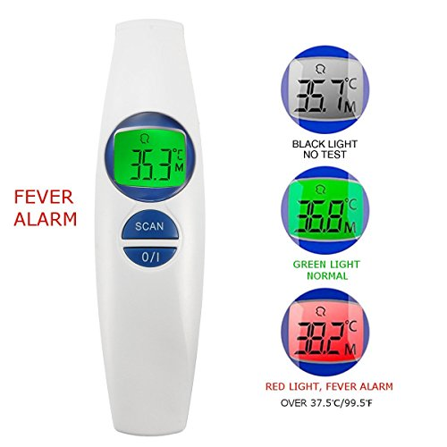 INSMA Forehead Thermometer Clinical Thermometer Infrared Thermometer Baby Fever Alarm Digital Thermometer Body/Object Dual Mode Non-contact Infrared Scanner Switch ℉/℃ Instant Results Auto Memory
