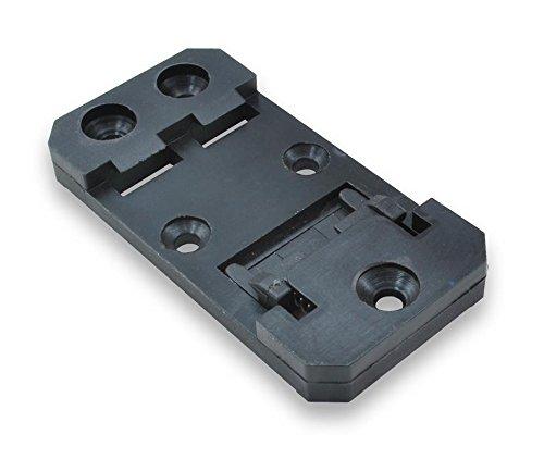 DIN Rail Mounting Brackets, 35mm x 68mm, Black, RoHS Compliant, 10-PACK