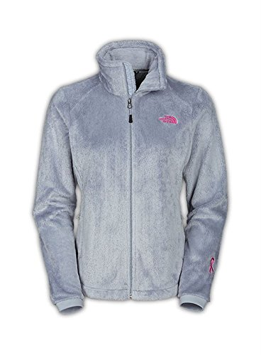 The North Face Women's Pink Ribbon Osito 2 Jacket, High Rise Grey SM