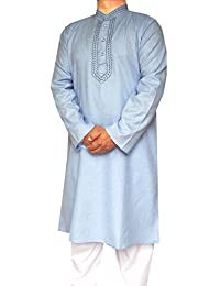 Maple Clothing Cotton Embroidered Mens Kurta Pajama India Clothes