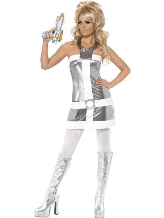 female 1960s fancy dress barbarella costume uk dress 16 18