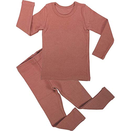 Amazon.com: Sunhusing Adorable Boys Girls Solid Color Long Sleeve Tops+Pants Home Pajamas Toddler Baby Sleepwear Outfit Beige: Clothing