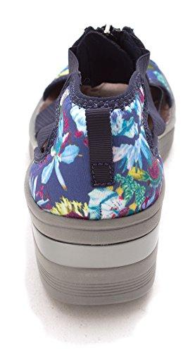 Sandali Con Plateau Casual Da Donna Con Stampa Blu / Maui