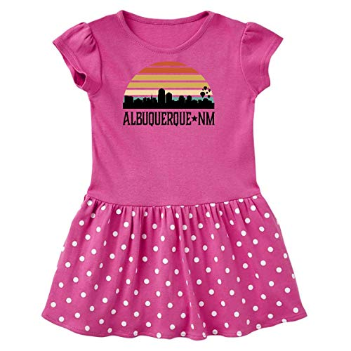 inktastic Albuquerque New Mexico Toddler Dress 5/6 Raspberry with Polka Dots (Best Prime Rib In Albuquerque)