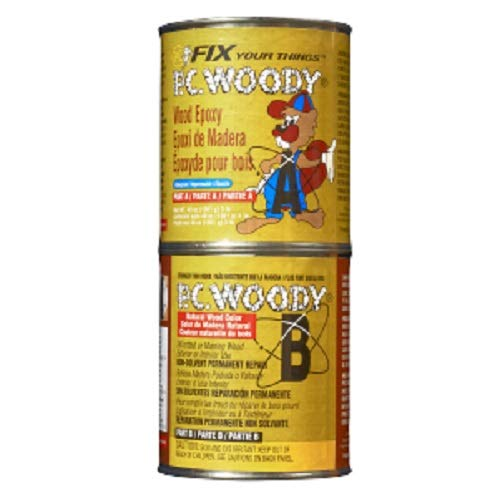 - PC Products PC-Woody Wood Repair Epoxy Paste, Two-Part 48oz in Two Cans, tan 643334