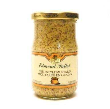 Grain Mustard Fallot French Dijon old fashioned mustard Mustard-7oz jar, One by Edmond Fallot