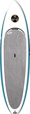 Surftech Lopez 0900 Sweetie Pie Stand Up Paddle Board, White/Blue Rails, 9ft x 30.6in x 4.1in