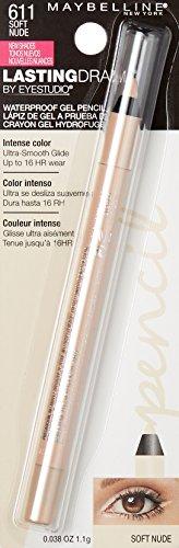 Maybelline New York Eyestudio Lasting Drama Waterproof Gel Pencil, Soft Nude, 0.037 Ounce
