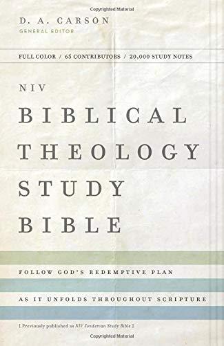 NIV, Biblical Theology Study Bible, Hardcover, Comfort Print: Follow Gods Redemptive Plan as It Unfolds throughout Scripture