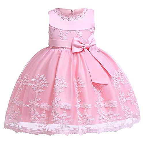 New Flower Embroidery Baby Girl Dress 3M-24M 1