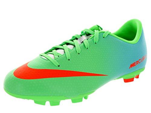 Nike - JR MERCURIAL VICTORY IV FG - Coleur: Azul-Verde - Taille: 38.5
