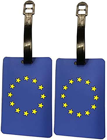 2-Piece Set Europe Luggage Tag Duffle Bag Label European Canadian American (Europe) - En Route Luggage Tag