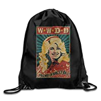 gnietog Dolly Parton What Would Dolly Do Men & Women Gym Sack Bag Drawstring Backpack ort Bag
