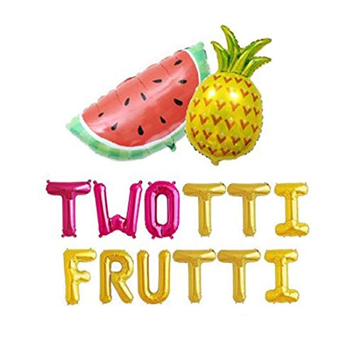 Twotti Frutti Birthday Decorations Balloons Twotti Fruity Second Fruit Pineapple Watermelon Summer Birthday Party Supplies Decorations ()