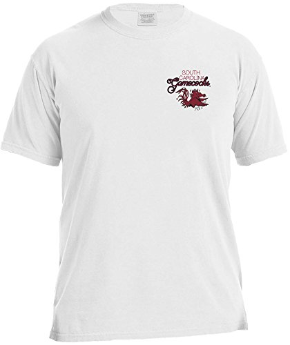 NCAA South Carolina Fighting Gamecocks Women's Laces & Bows Color Short Sleeve T-Shirt, ()