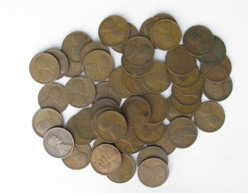 Roll (50) Pre-1920's Lincoln Wheat Cents; Good or Better