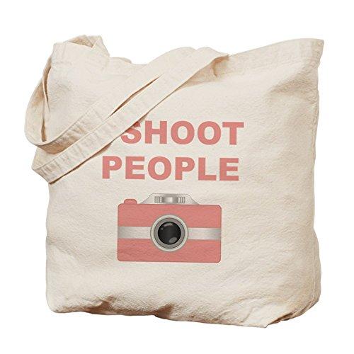 CafePress Unique Design I Shoot People Pink Camera Tote Bag - Standard by CafePress
