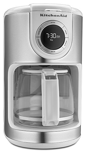 KitchenAid KCM1202WH 12-Cup Glass Carafe Coffe Maker – White