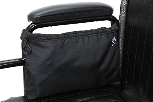 - Pembrook Wheelchair Pouch Bag - Black - Great simple accessory pack for your mobility devices. Fits most Scooters, Walkers, Rollators - Manual, Powered or Electric Wheelchairs