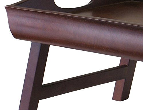 Winsome Wood Sedona Bed Tray Curved Side, Foldable Legs, Large Handle